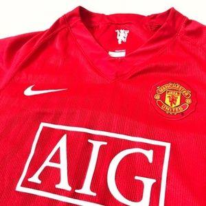 NIKE Manchester United Boys XL Stitched Jersey